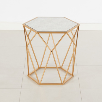Tron Hexagon Shaped End Table