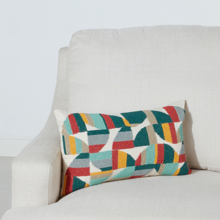 Whim Beaded Cushion Cover - 30x50 cms
