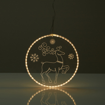 Reindeer Mirror Light with Rope