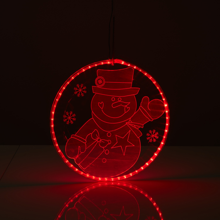 Snowman Mirror Light with Rope