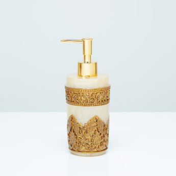 Albert Textured Lotion Dispenser with Metallic Pump