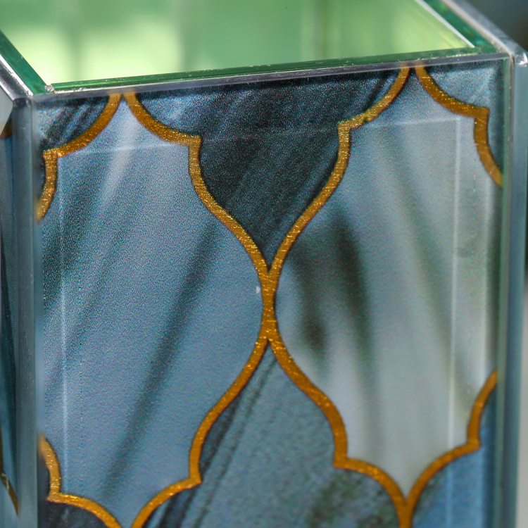 Kivu Decorative Printed Glass Tumbler
