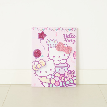 Hello Kitty Printed Canvas Wall Decor