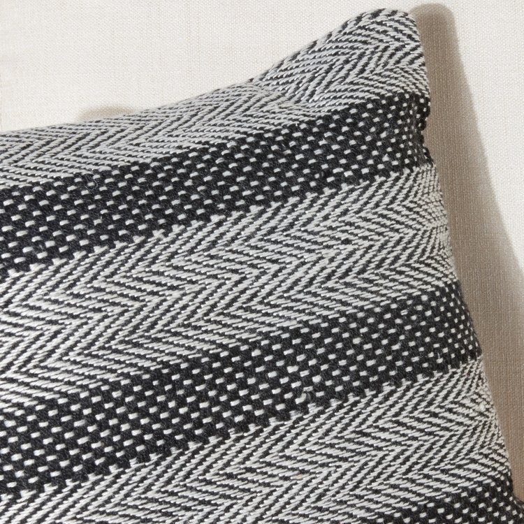 Herringbone Printed Filled Cushion - 65x40 cms