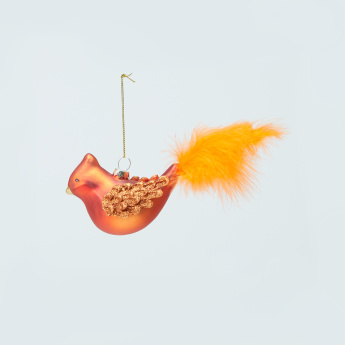 Glass Bird Hanging Ornament