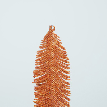 Hanging Glitter Feather Ornament - Set of 12