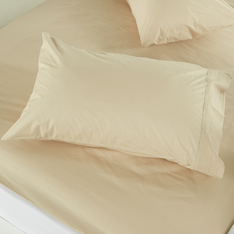 Eternity Textured 3-Piece Duvet Cover Set - 135x200 cms