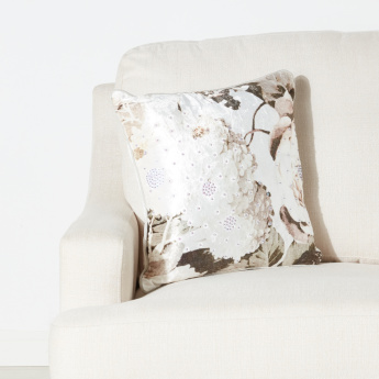 Bloom Luxe Sequin Detail Filled Cushion with Zip Closure - 45x45 cms