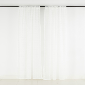 Extra Weft Sheer Curtain Pair - 140x240 cms