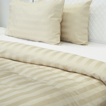 Satin Striped 3-Piece Queen Duvet Cover Set - 200x200 cms