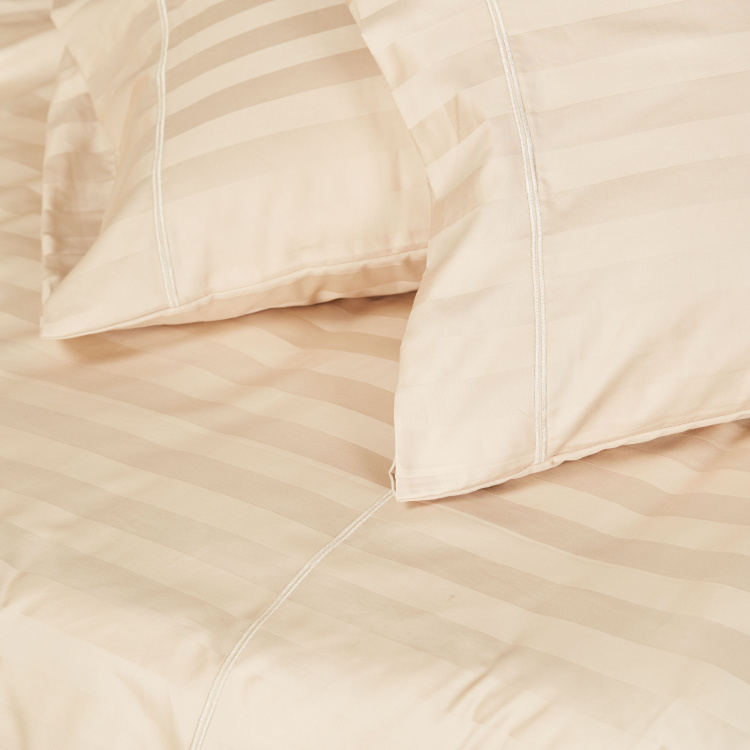 Striped 3-Piece King Duvet Cover Set - 220x230 cms