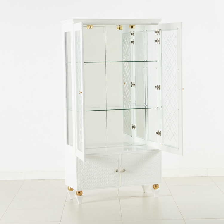 Cherise 2-Door Display Curio Cabinet
