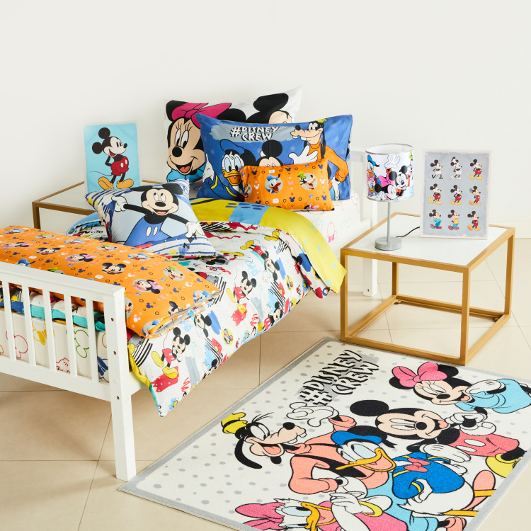 Mickey Mouse Printed 2-Piece Single Duvet Cover Set - 135x200 cms