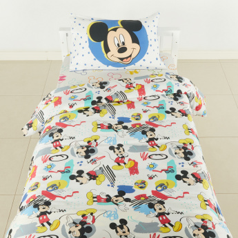 Mickey Mouse Printed 2-Piece Duvet Cover Set - 160x200 cms