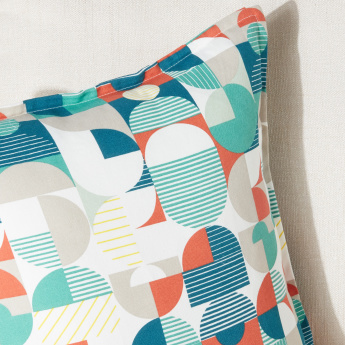 Graphic Collage Printed Cushion Cover - 45x45 cms