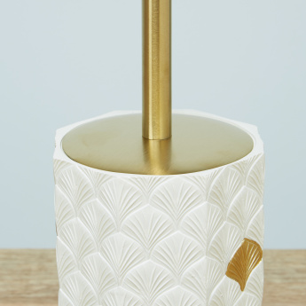 Kimono Moulded Toilet Brush Holder with Brush