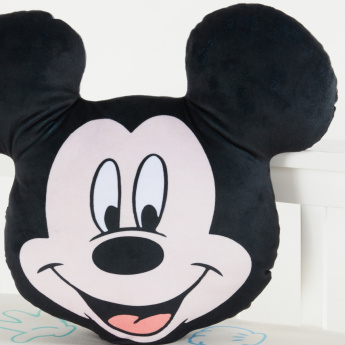 Mickey Mouse Shaped Filled Cushion - 45x40 cms