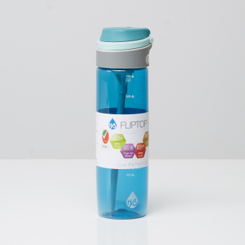 Aqua Drinking Bottle with Flip Top Lid - 720 ml