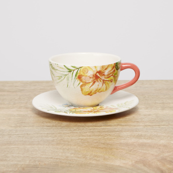 Tropical Print Teacup and Saucer - 220 ml