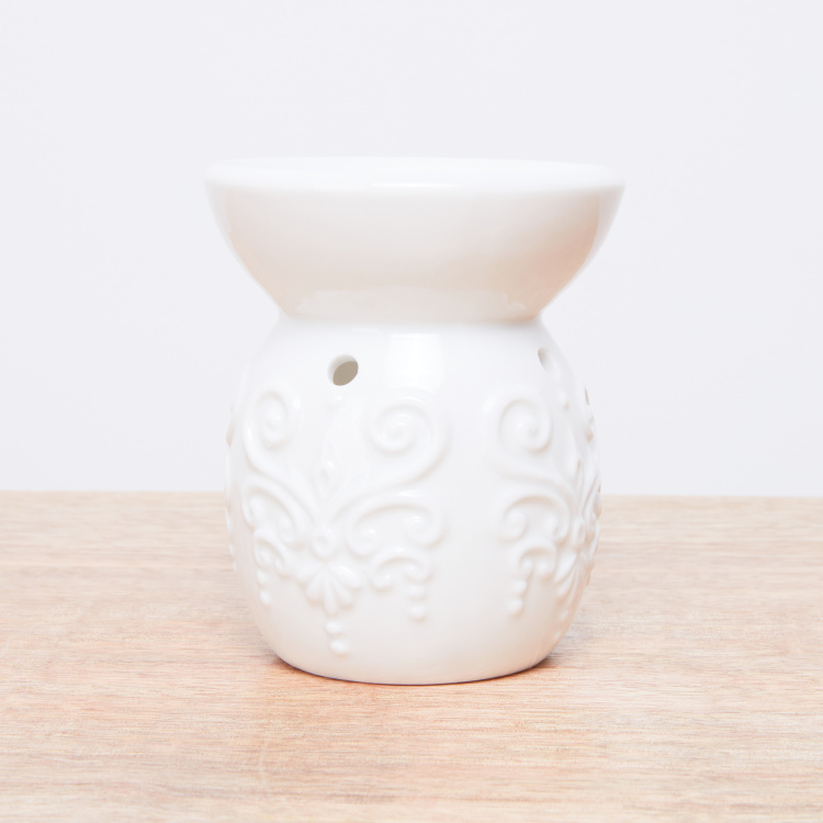 Laso Textured Cylindrical Tealight Oil Burner