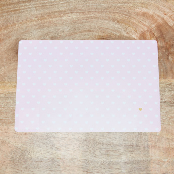 Emmaline Heart Printed Rectangular Placemat