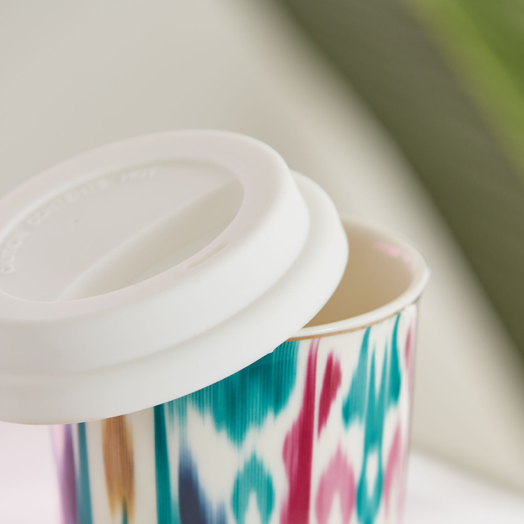 Dell Printed Sipper Mug with Lid - 420 ml