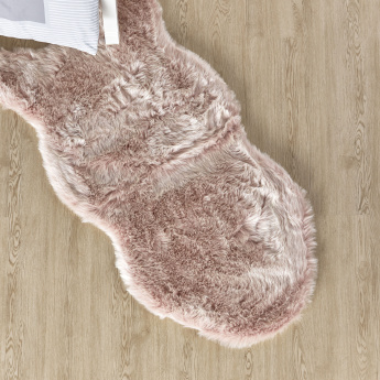 Sherrie Sheepskin Shaped Faux Fur Rug - 60x120 cms