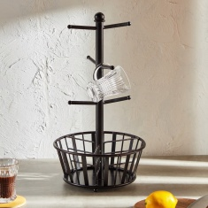 Aplique Mug Tree with Basket