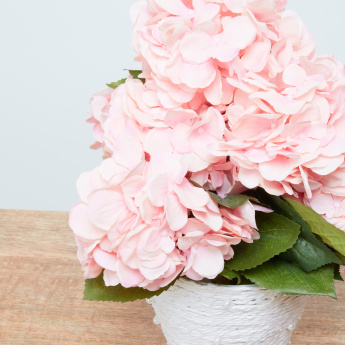 Hydrangea Decorative Flower with Basket