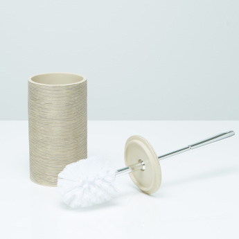 Damian Textured Toilet Brush Holder with Brush