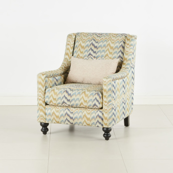 Mason 1-Seater Tufted Armchair with Scatter Cushion