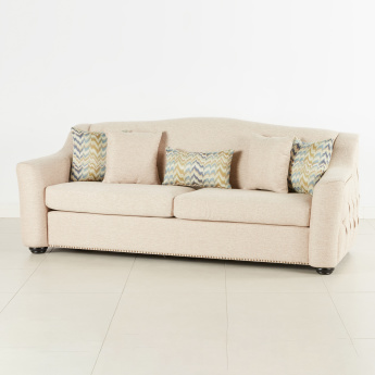 Mason Tufted 3-Seater Sofa with Scatter Cushions