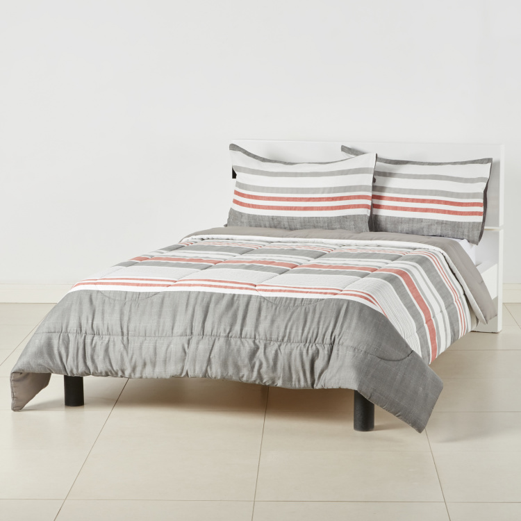 Desert Striped 3-Piece Super King Comforter Set - 250x260 cms
