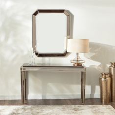 Jewel Handcrafted Console Table with Mirror