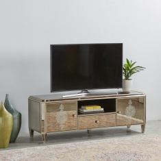 Jewel Mirrored 2-Door 1-Drawer TV Unit