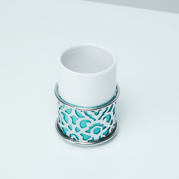 Bassa Tumbler with Metallic Cutout Detail
