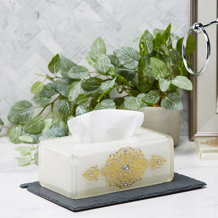 Awing Embellished Tissue Box Cover
