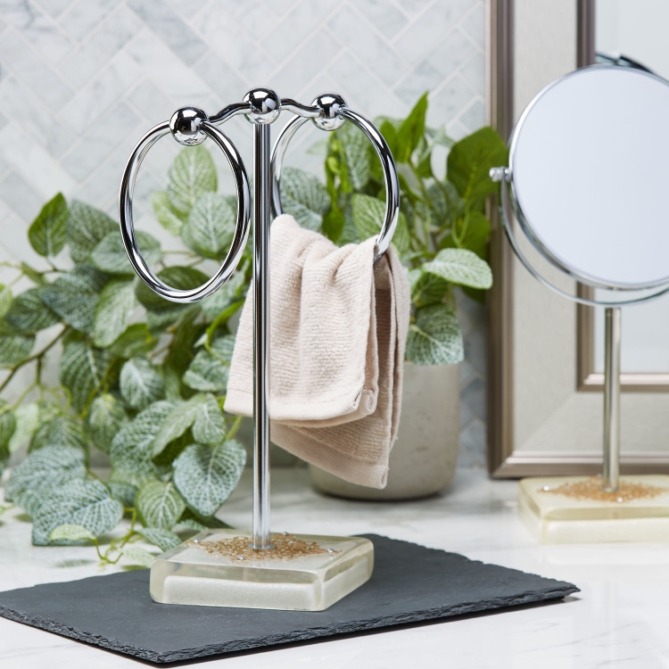 Awing Double Ring Towel Stand