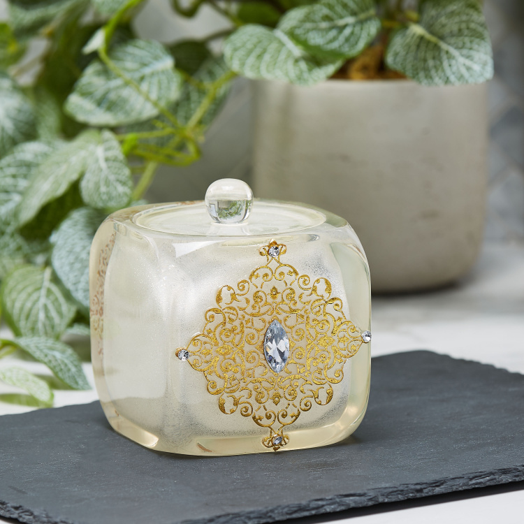 Awing Decorative Cotton Jar with Lid