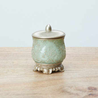 Kinkony Embossed Cotton Jar with Lid