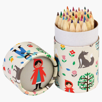 Red Riding Hood 36-Piece Colouring Pencil Set with Case
