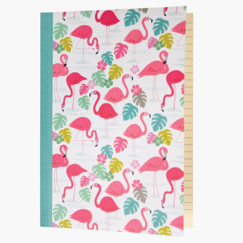 Flamingo Bay Printed A5 Notebook