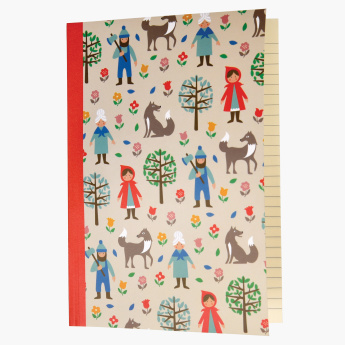 Red Riding Hood Printed A5 Notebook