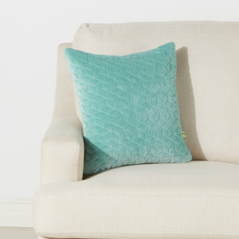 Stitch Detail Cushion Cover - 65x65 cms