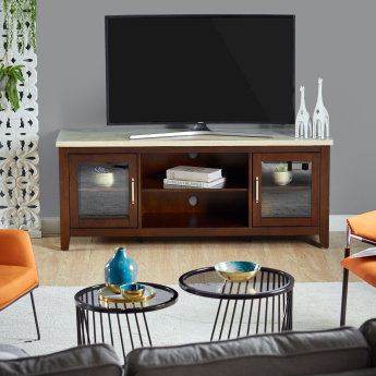 Ken 2-Door TV Unit with Marble Top