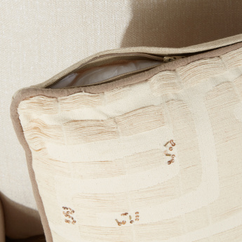 Natural Jazz Textured Filled Cushion with Zip Closure - 45x45 cms