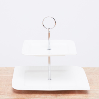 Ripple 2-Tier Cake Stand