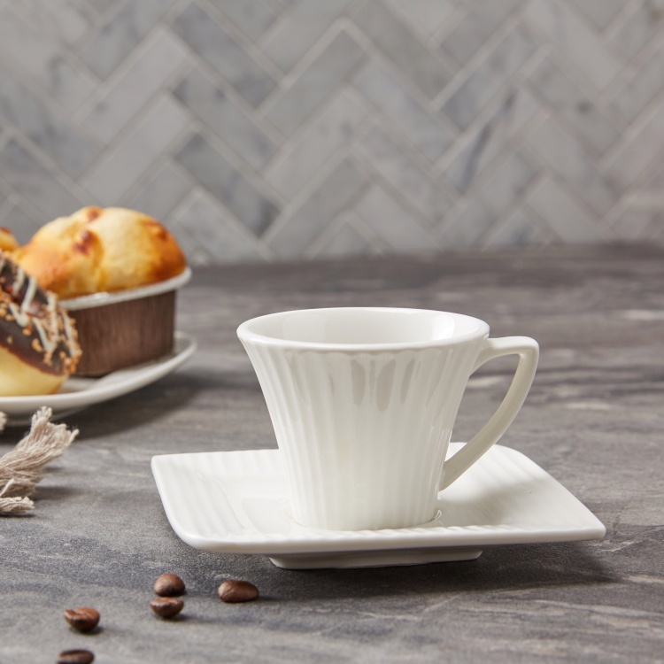 Ripple Cup and Saucer Set