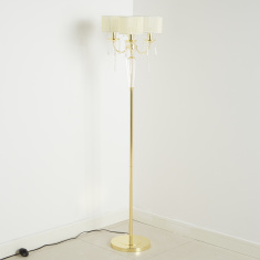 Medalion Crystal Detail Electrical Floor Lamp