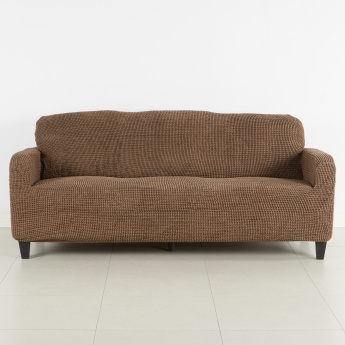 Glamour Super Stretch Textured 3 Seater
